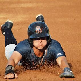 Stealing 3rd! by Benny Lopez - Sports & Fitness Baseball ( south bend cub's, josh lowe, baseball, bowling green hot rod's )