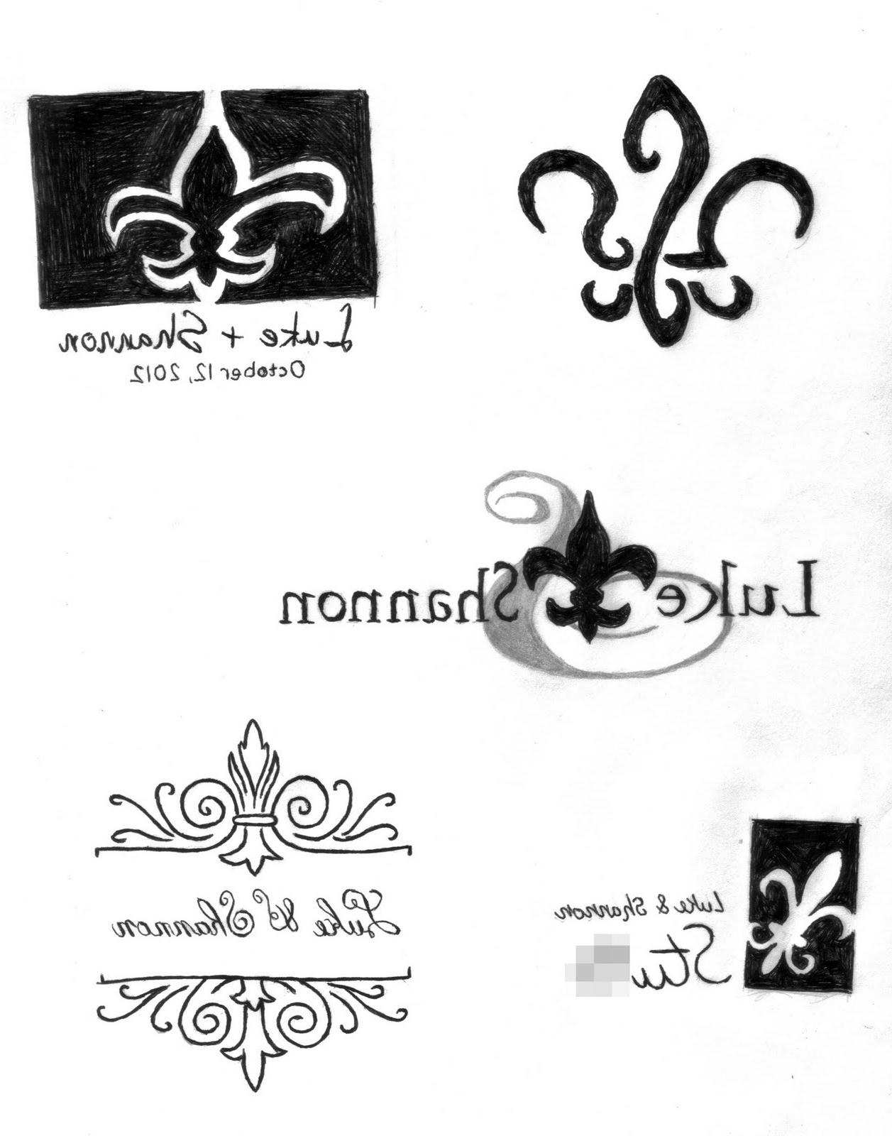 wedding logos sketches
