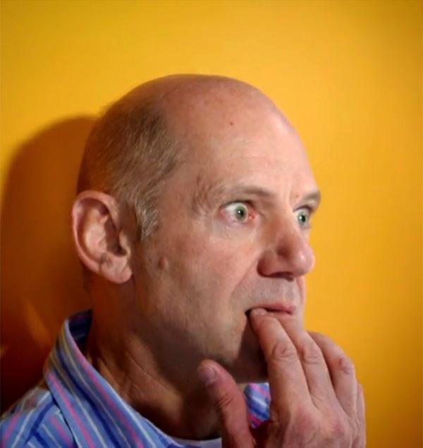 Эдриан Ньюи фотографируется для Faces for Charity 2012