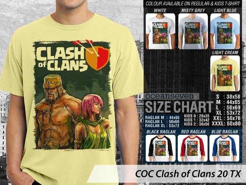 Kaos COC Clash of Clans 20 distro ocean seven