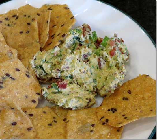 Bacon Jalapeno Cheese Ball and Crackers