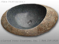 Natural Boulder - Stone Vessel Sink, Dark, Unrimmed