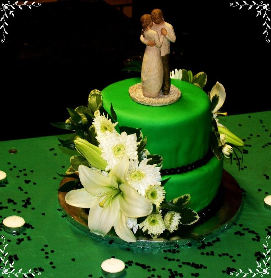 Green Wedding Cake by