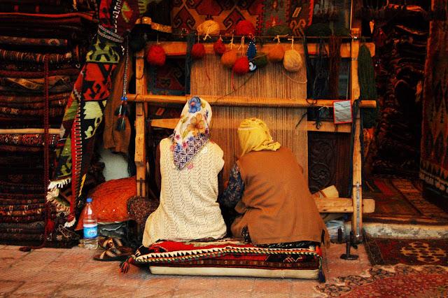 Турция: Город Гереме, ткацкий станок