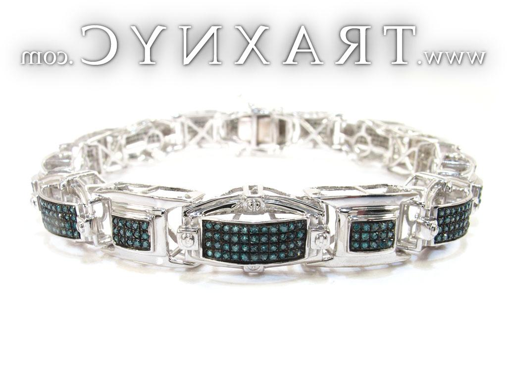 Full Size Picture for Syrian Silver Diamond Bracelet 26106