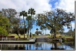Boat launch at Dunnellon City Park (Rainbow and Withlacoochee Rivers)