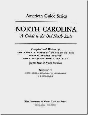 1939 Guide to the Old North State