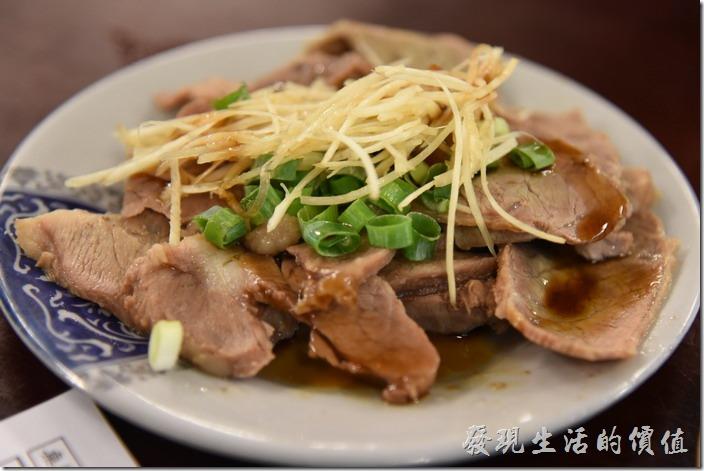 南投-胡國雄古早麵。豬菊花肉,NT50。依然滷得很入味且容易下嚥,味道很好吃。