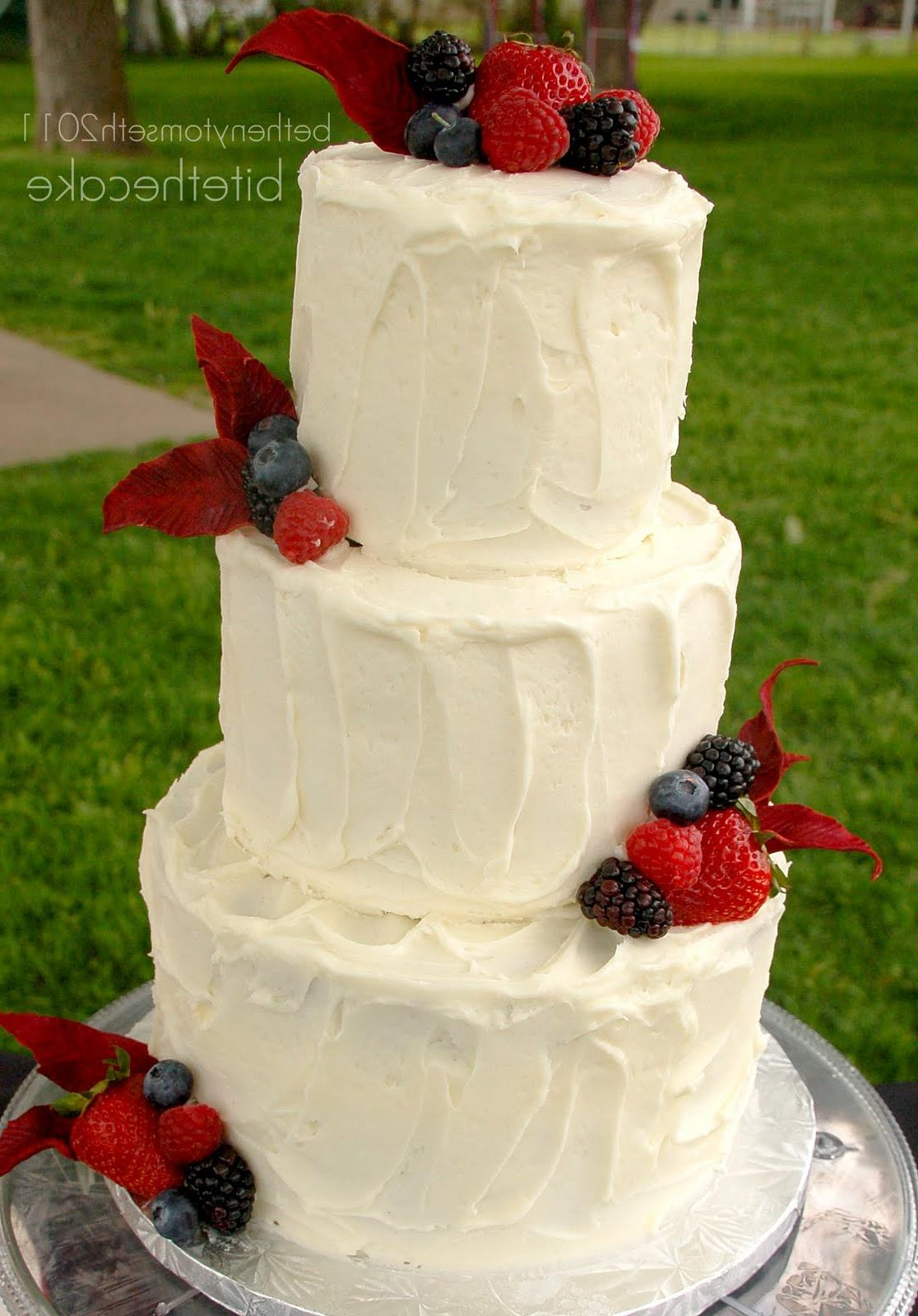 rustic wedding cake with
