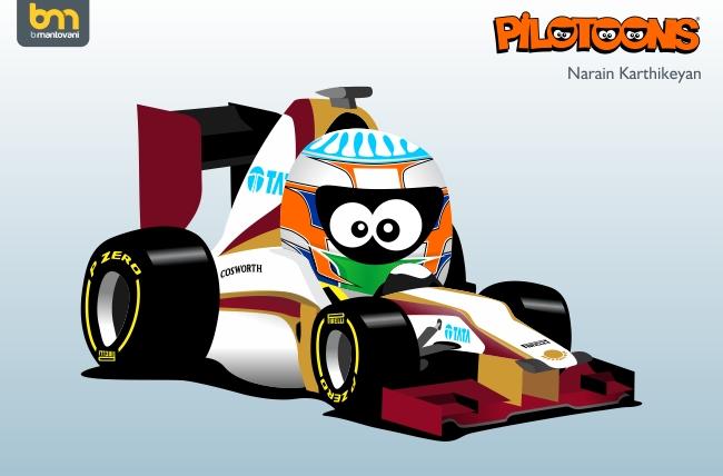 Нараин Картикеян HRT F112 pilotoons 2012