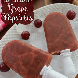 All Natural Grape Popsicles