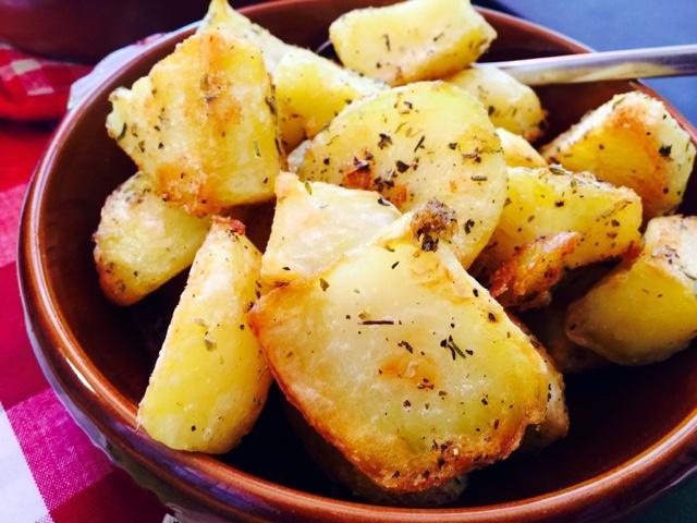 Best roast potatoes with greek herbs