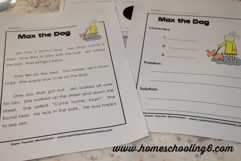 Super Teacher Worksheets Reading Comprehension