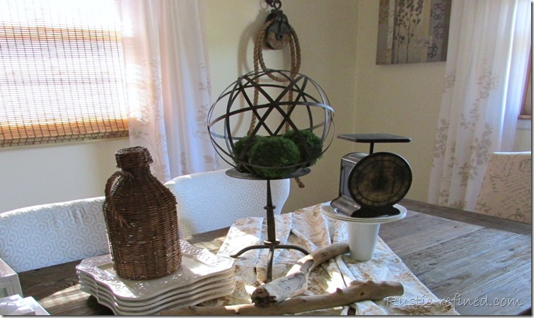 Using rusty and rustic items for a table centerpiece @Rustic-refined.com