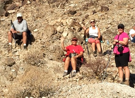 Yuma hiking club at gold mine Dec. 7