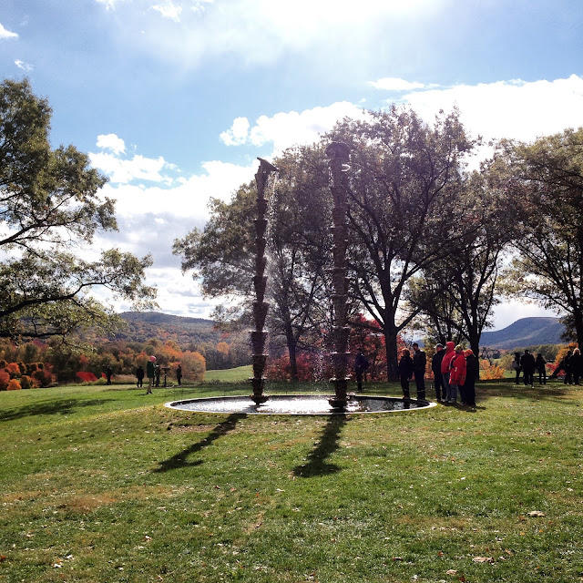 Lynda Benglis' Water Sources at Storm King Art Center