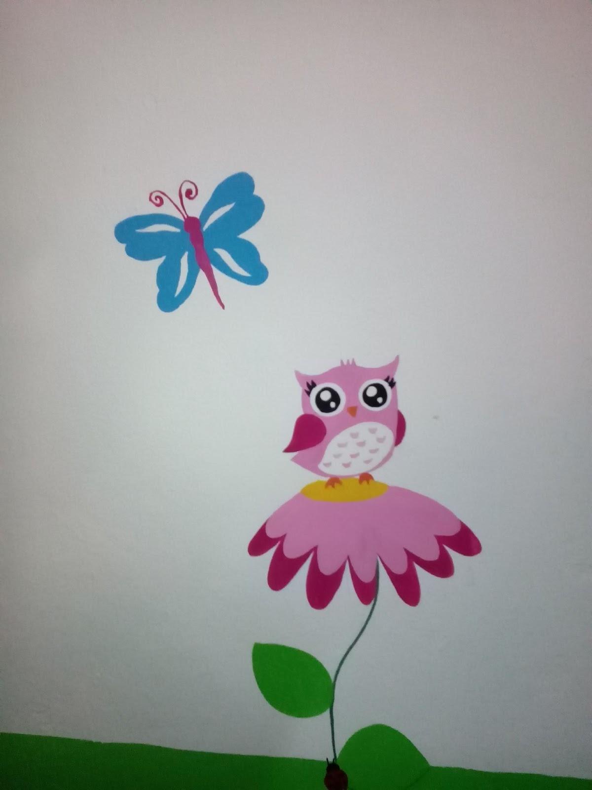 Murales creativos heidy guerrero for Murales infantiles nina
