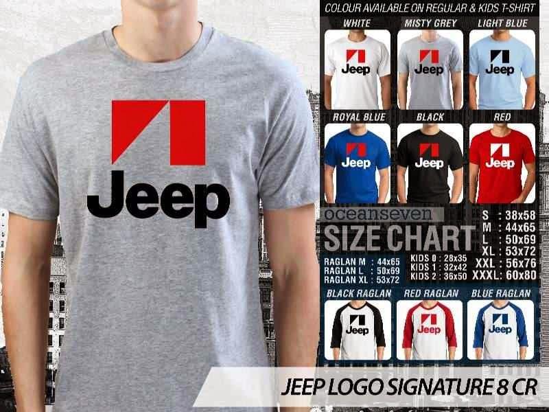 jual kaos jeep Logo Signature 8 distro