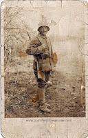 German pioneer wearing ammo pouches M1887 and steel helmet