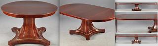 Антикварный раскладной стол из красного дерева. 19-й век. 120-420 см. 7500 евро.