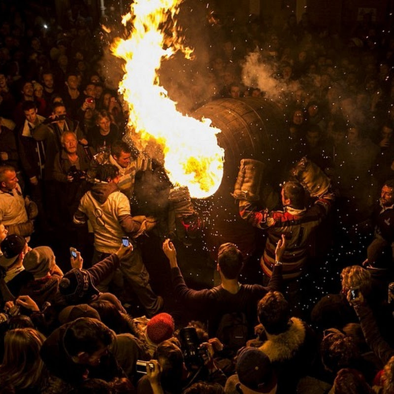 The Ottery Tar Barrels Burning Festival