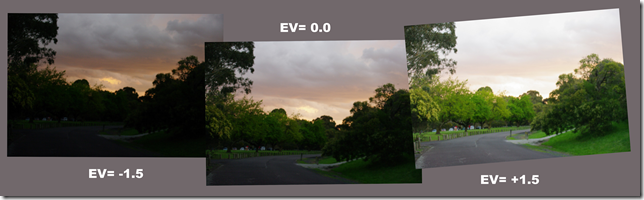 The Original 3 EV Bracketed Photo Set