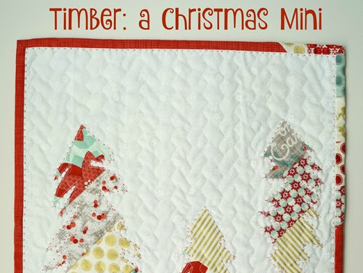Timber: Christmas Mini Quilt {inc pattern link}