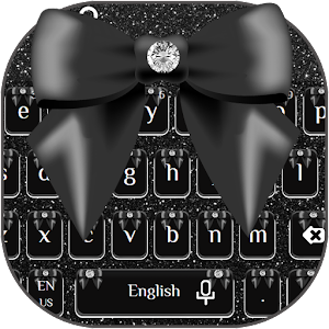 Download Black Bow Keyboard Theme for PC