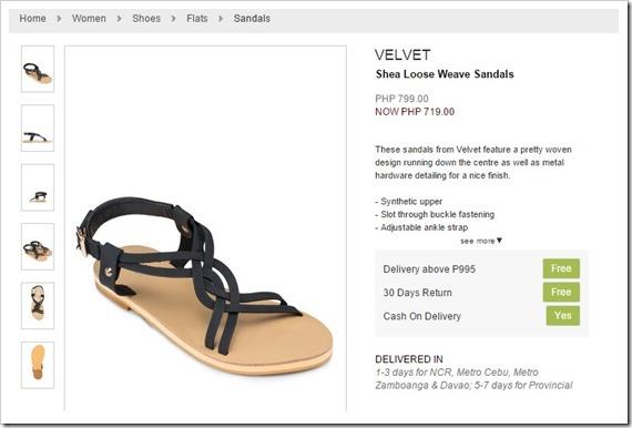 zalora sandals velvet