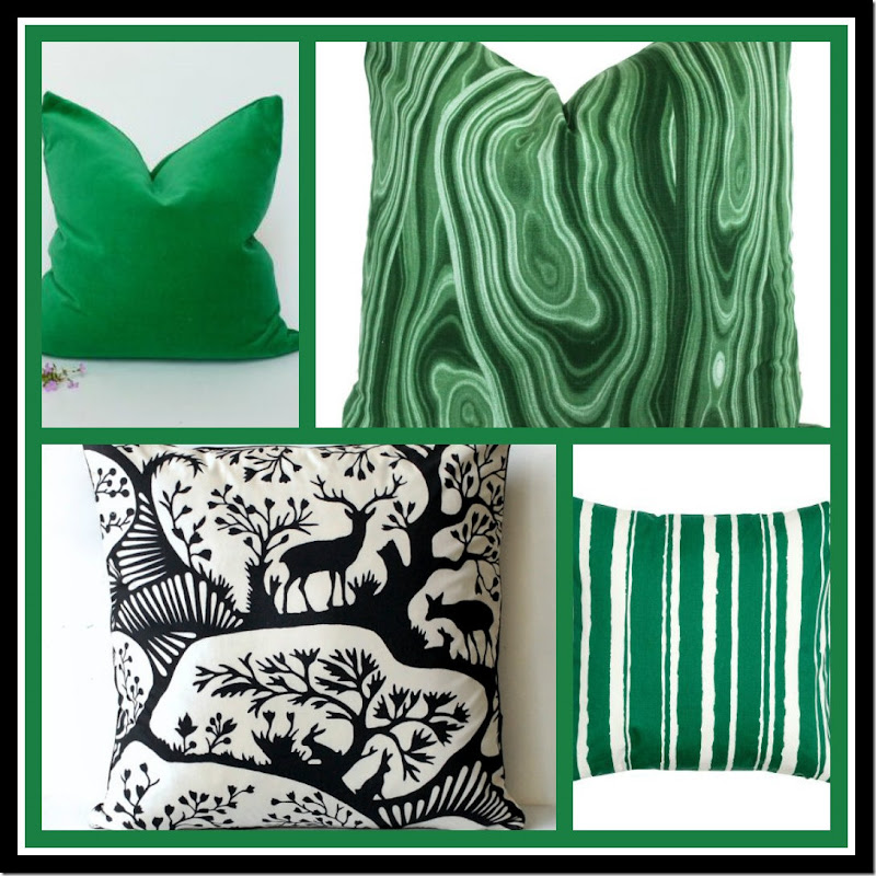 Ribbet collage 2015 Christmas pillows