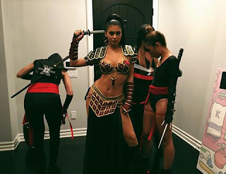 Kylie Jenner as Zena with her Ninjas