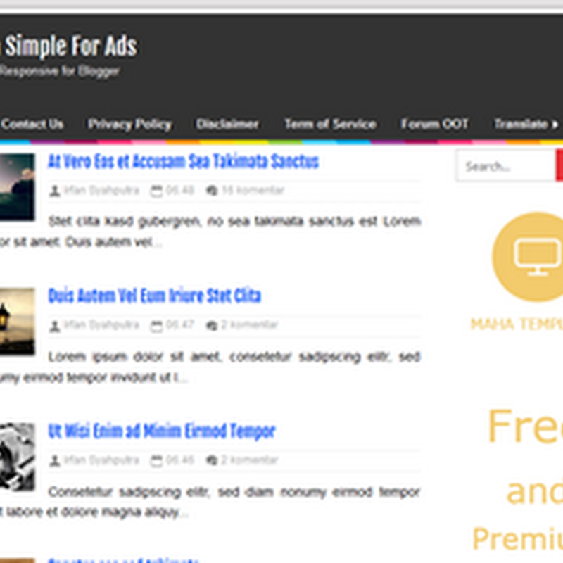 Maha Simple Responsive Blogger Template