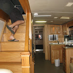Then Pone found a cool place to watch the show from...atop an RV...but he had to squeeze through a hatch first