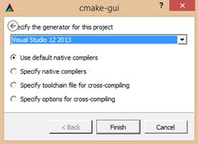 cmake generar opencv para visual studio