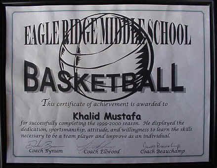 Just of few of Khalid's many educational and sporting achievements!