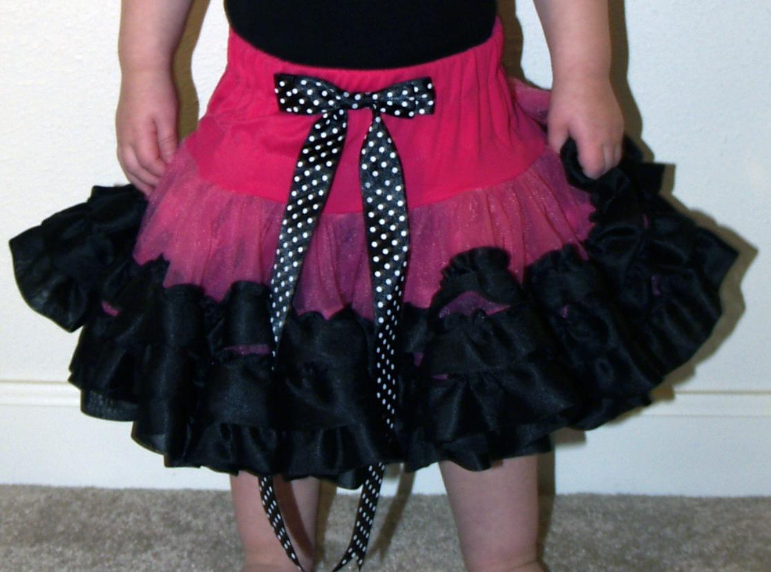 Hot Pink and Black Pettiskirt