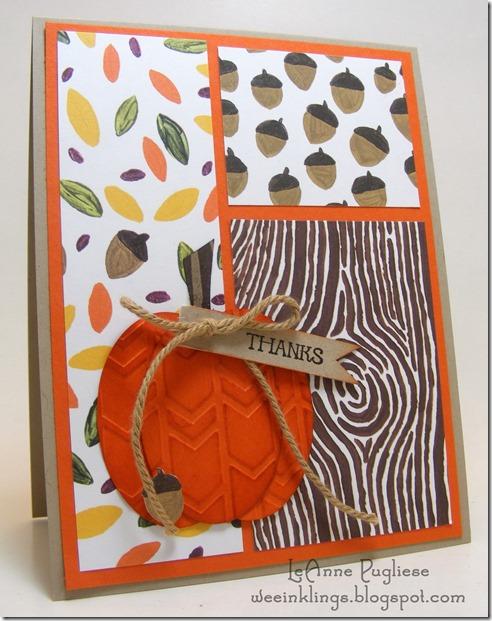 LeAnne Pugliese WeeInklings Embossed Pumpkin Stampin Up And Many More