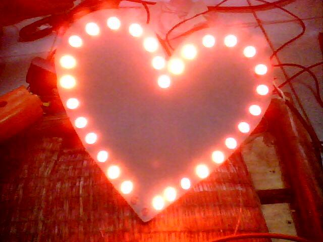 Đèn led trái tim