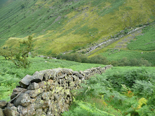 Looking back down to Stonethwaite Beck