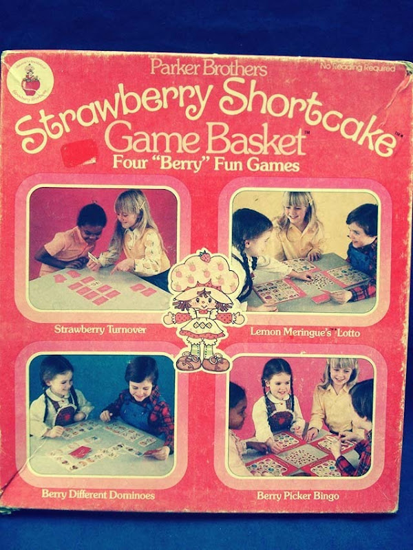 Strawberry Shortcake Board Game Front Side