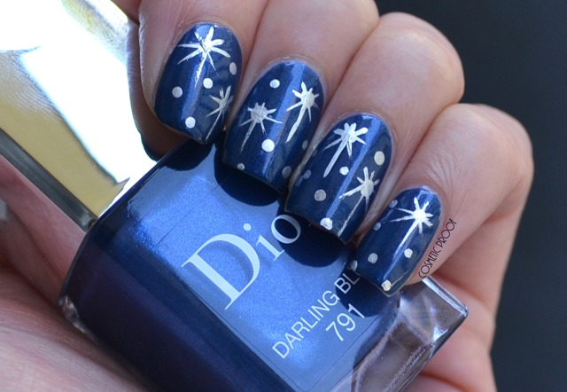 Dior Darling Blue Miroir Starry Sky Nail Art