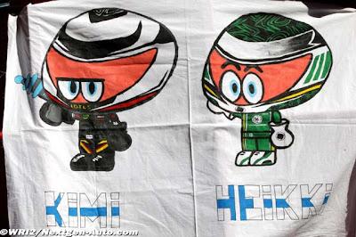 баннер Los MiniDrivers болельщиков Кими Райкконена и Хейкки Ковалайнена на Гран-при Испании 2012