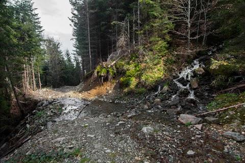 jeden z prítokov vodopádu Vârciorog