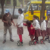 Children of MNR-Scottsdale Group of Schools - Kukatpally learn skating after school