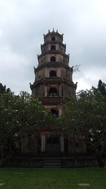 The seven story Thien Mu Pagoda - Vietnam's tallest.