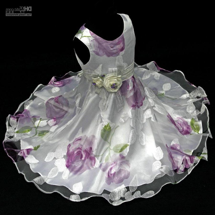 6003 Wedding Party Purple Rose Flower Girls Dress 4-5 Party Wedding Holiday