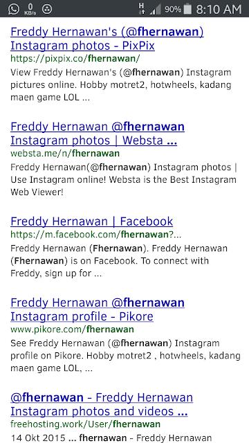 hasil pencarian tentang diri saya di google