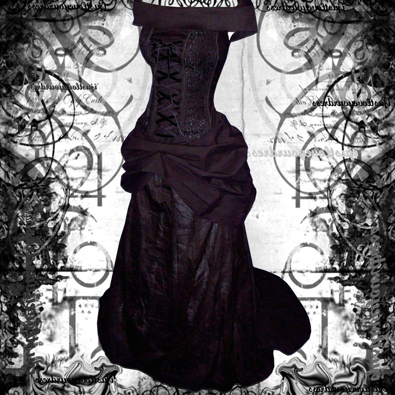 gothic black wedding dresses