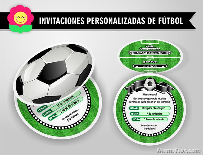 Invitaciones de Fútbol | Tarjetas en forma de Pelota GRATIS para imprimir