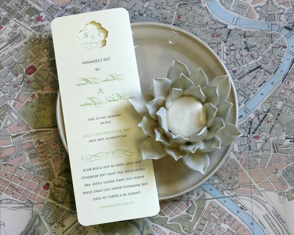 Rose Wedding Programs